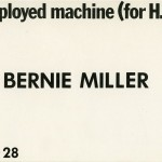 Bernie Miller. Invitation