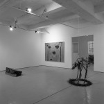 From left to right: Dennis Gill. Artwork unknown. Colette Urban. Dogskin., Worms, Dog. Installation view. Photo: Peter MacCallum