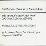 Michael Amar. Invitation