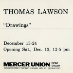Thomas Lawson. Invitation.