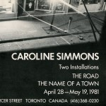 Caroline Simmons. Invitation.