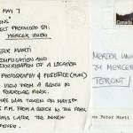 H. P. Marti. Back image of artist's postcard.