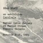 Brad Brace. Invitation.