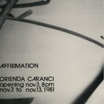 Orienda Caranci. Invitation.