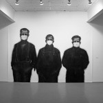 Stephen Hutchings. Three Masked Men. Installation view. East Gallery. Photo: Peter MacCallum.