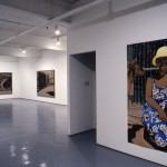 From left to right: Anna-Marie Cobbold. Portrait Facade, 1987, drawings and paintings. Chris and the Kangaroo. Installation view. East Gallery. Photo: Peter MacCallum