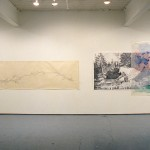 From left to right: Janis Hoogstraten. Map. and Sleep-Apple Tree. Installation view. East Gallery. Photo: Peter MacCallum.