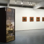 From left to right: Vikky Alexander. Interior Pavilion #4., Mahogany Square.. Installation view. Photo: Peter MacCallum.