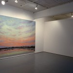 From left to right: Rae Johnson, Green Sky, Hazy Sky. Installation view. Photo: Peter MacCallum