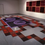 From left to right: Neil MacInnis, +/-, Gay Bashing Tartan/Gay Nineties Tartan. Installation view. Photo: Peter MacCallum