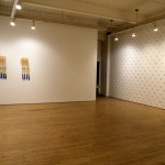 From left to right: Kelly Mark. Split Axes., Bill Crane. Trace Elements. Project Room. Installation view. Photography by Cheryl O'Brien.