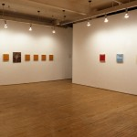 From left to right: Lucy Hogg, Ron Terada. Installation view. Main Gallery. Photography by Cheryl O'Brien.