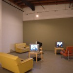"kim dawn. ""Monologue Series (three chapters)"", video, 2001. Installation view. Photography by Brian Piitz."