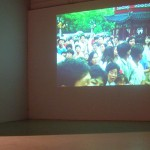 Xu Zhen. Shouting. video, 4 mins., 1998/2005. Installation View. Front Gallery.