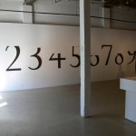 Micah Lexier, All Numbers Are Equal (Tops Cut Off), 2003. Installation view. Front Gallery.