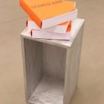 Derek Sullivan, Stack, 2004. Plywood, 3 copies of the edition National Gallery Catalogue. Edition of 3 (+1 AP). Photo: Jon Sasaki.