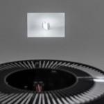 Bruno Persat,  an y form yn a form, 2012. Thread, slide projection. Partial view. Photo: Toni Hafkensheid.