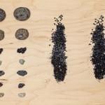 Kerri Reid, Souvenirs (Iceland), 2012. Volcanic and mineral rocks, handmade stoneware copies. Photo: Toni Hafkensheid.