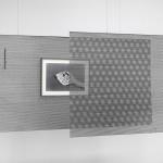 Katinka Bock, _o_o__o (G), 2017, bronze; Sinistra o destra, 2017, b/w photograph, dyptic (right)