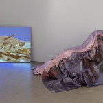 installation view Emre Hüner, still from Diamond Head Diving Man, 2012; Steve Kado, 