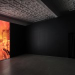 Sophia Al Maria, Black Friday, 2016. Digital video, colour, sound, 16 min. Courtesy the artist and The Third Line, Dubai. Installation view: Mercer Union,  a centre for contemporary art, Toronto, 2018. Photo: Toni Hafkenscheid.